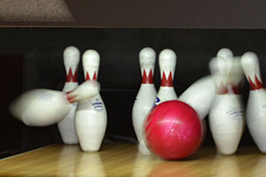 bowling pins and bowling ball - privacy