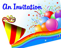 Ryan Amusements Birthday Party Invitation