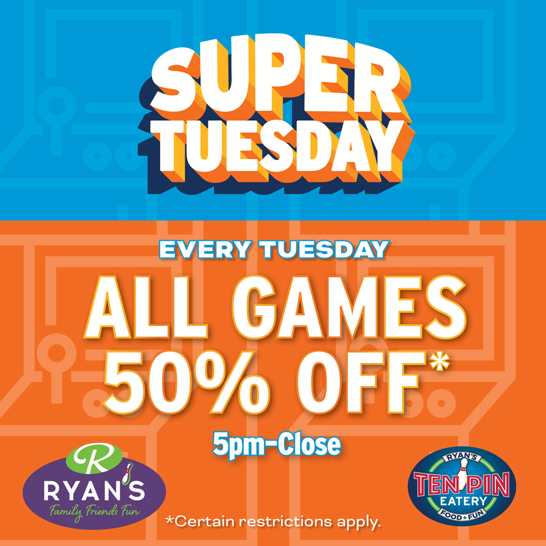 SUPER TUESDAY 50% OFF GAMES